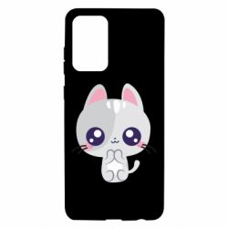 Чохол для Samsung A72 5G Cute cat with big eyes