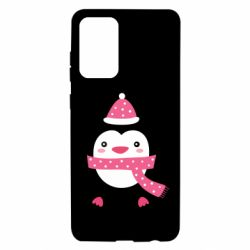 Чехол для Samsung A72 5G Cute Christmas penguin