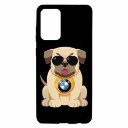 Чохол для Samsung A72 5G Dog with a collar BMW