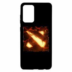 Чехол для Samsung A72 5G Dota 2 Fire Logo