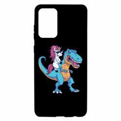Чохол для Samsung A72 5G Єдиноріг і динозавр
