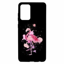 Чохол для Samsung A72 5G Flamingo pink and spray