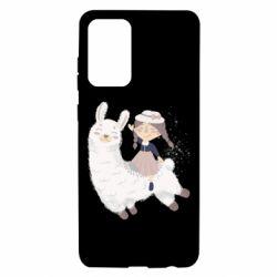 Чохол для Samsung A72 5G Girl with a lama