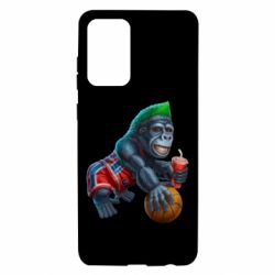 Чехол для Samsung A72 5G Gorilla and basketball ball