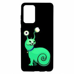 Чехол для Samsung A72 5G Green monster snail