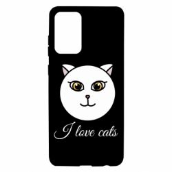 Чохол для Samsung A72 5G I love cats art