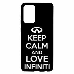 Чехол для Samsung A72 5G KEEP CALM and LOVE INFINITI