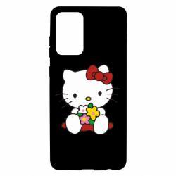 Чехол для Samsung A72 5G Kitty с букетиком