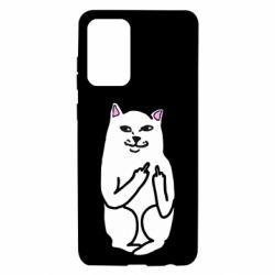 Чехол для Samsung A72 5G Кот с факом