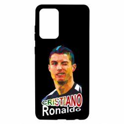 Чохол для Samsung A72 5G Крістіано Роналдо, полігональний портрет