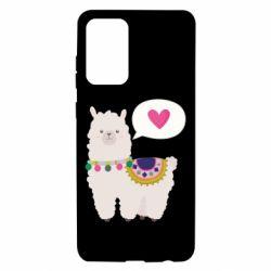 Чехол для Samsung A72 5G Lama with pink heart