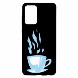 Чехол для Samsung A72 5G Light blue cup of coffee