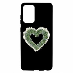 Чехол для Samsung A72 5G Lilies of the valley in the shape of a heart