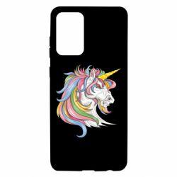 Чохол для Samsung A72 5G Кінь з кольоровою гривою