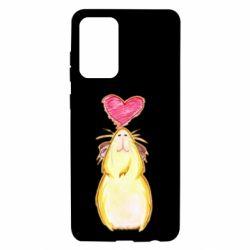 Чохол для Samsung A72 5G Морська свинка і сердечко
