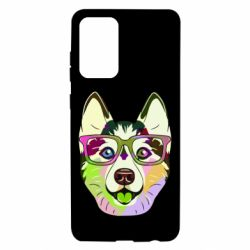 Чохол для Samsung A72 5G Multi-colored dog with glasses