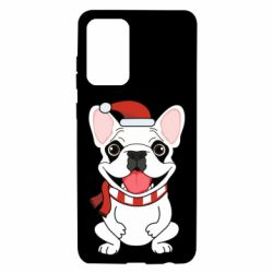 Чехол для Samsung A72 5G New Year's French Bulldog