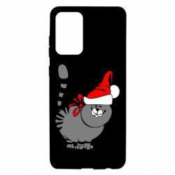 Чехол для Samsung A72 5G Новогодний котэ