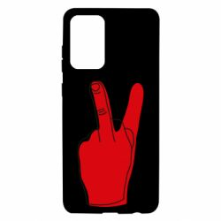 Чехол для Samsung A72 5G Peace and middle finger