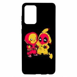 Чехол для Samsung A72 5G Pikachu and deadpool