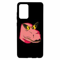 Чохол для Samsung A72 5G Pink dinosaur with glasses head