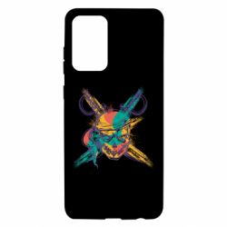 Чехол для Samsung A72 5G Pirate skull and paint strokes