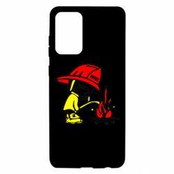 Чехол для Samsung A72 5G Писающий хулиган-пожарный