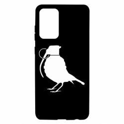 Чехол для Samsung A72 5G Птичка с гранатой