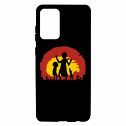Чохол для Samsung A72 5G Silhouette of Rick and Morty at Sunset