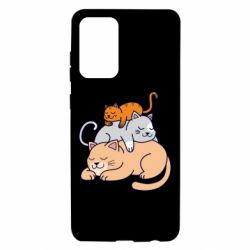 Чехол для Samsung A72 5G Sleeping cats