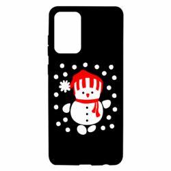 Чехол для Samsung A72 5G Снеговик в шапке