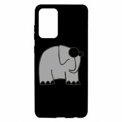 Чехол для Samsung A72 5G удивленный слон