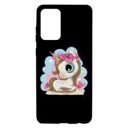 Чохол для Samsung A72 5G Unicorn with flowers