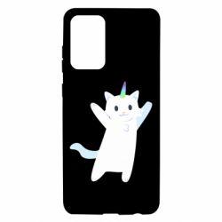 Чохол для Samsung A72 5G White cheerful cat