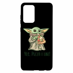 Чехол для Samsung A72 5G Yoda and pizza