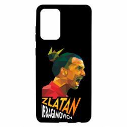 Чехол для Samsung A72 5G Златан Ибрагимович, полигональный портрет
