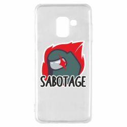 Чохол для Samsung A8 2018 Among Us Sabotage