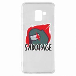 Чохол для Samsung A8+ 2018 Among Us Sabotage