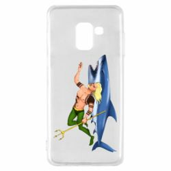 Чехол для Samsung A8 2018 Aquaman with a shark