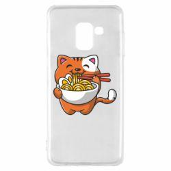 Чохол для Samsung A8 2018 Cat and Ramen