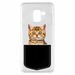 Чехол для Samsung A8 2018 Cat in your pocket