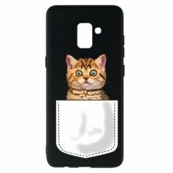 Чехол для Samsung A8+ 2018 Cat in your pocket