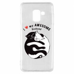 Чехол для Samsung A8 2018 Cats and love
