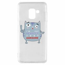Чехол для Samsung A8 2018 Cute cat and text