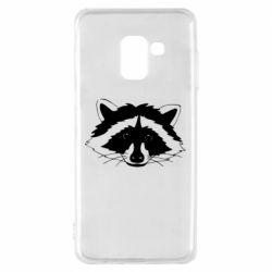 Чохол для Samsung A8 2018 Cute raccoon face