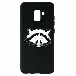 Чохол для Samsung A8+ 2018 Cute raccoon face