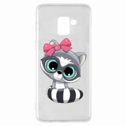 Чехол для Samsung A8+ 2018 Cute raccoon