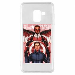 Чохол для Samsung A8 2018 Falcon and the Winter Soldier Art