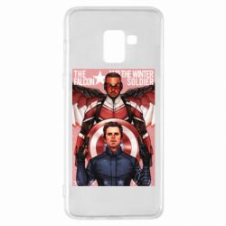 Чохол для Samsung A8+ 2018 Falcon and the Winter Soldier Art