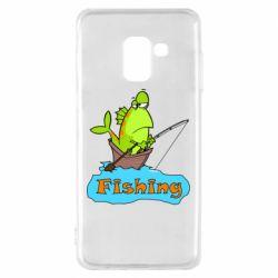 Чехол для Samsung A8 2018 Fish Fishing